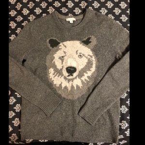 Polar bear sweater lamb wool 💙